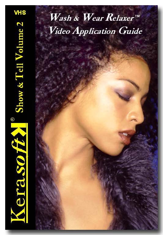 Wash & Wear Relaxer for semi natural Black hair styles